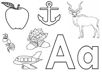 Alphabet A worksheet for Nursery