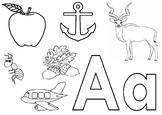 Alphabet A worksheet for Nursery