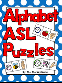 ASL Alphabet ABC Puzzles American Sign Language Phonics Matching Activity