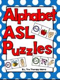 ASL Alphabet Puzzles