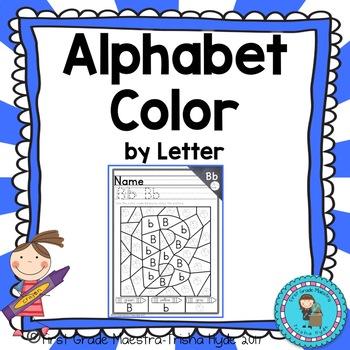 Alphabet ABC Color By Letter
