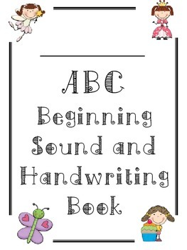 Alphabet ABC Letter Sound Handwriting Tracing Booklet for Girls and Boys