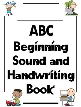 Alphabet ABC Letter Sound Handwriting Tracing Booklet for