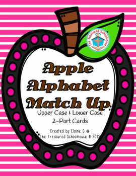 Alphabet ABC Match-Up Cards - Apple