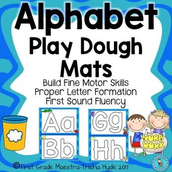 Alphabet ABC Play Dough Cards