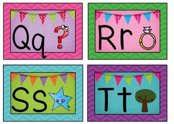 Alphabet ABC Posters ~ Chevron Theme for Classroom Decor