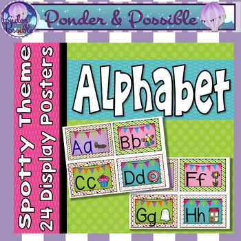 Alphabet ABC Posters ~ Spotty Theme for Classroom Decor