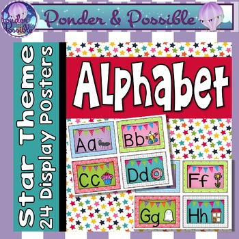 Alphabet ABC Posters ~ Star Theme for Classroom Decor