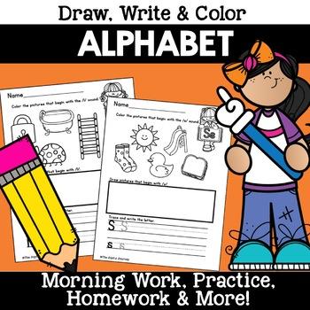 Alphabet Handwriting Practice Morning work Worksheet Handw