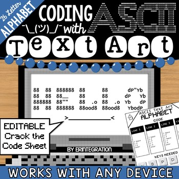 Alphabet / ABC / Secret Message Coding with ASCII Text Art for Any Device