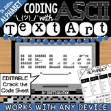 Alphabet / ABC / Secret Message Coding with ASCII Text Art