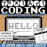 Alphabet / ABC / Secret Message Coding with ASCII Text Art