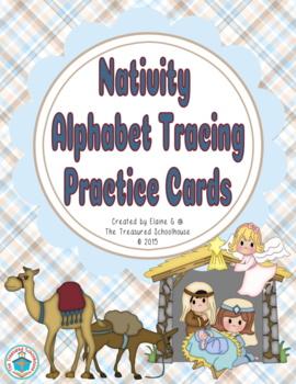 Alphabet ABC Tracing Cards - Christmas Nativity