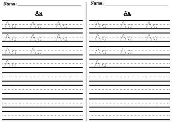 Alphabet ABC Uppercase and Lowercase Handwriting Practice Sheets