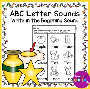 No Prep Alphabet Abc Write The Beginning Sound Worksheets By