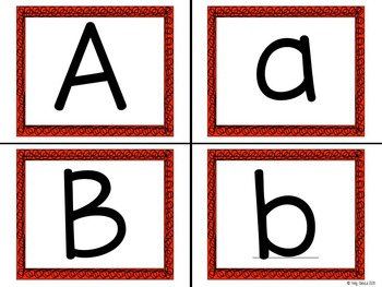 Alphabet - ABC flashcards - red bordered - CCSS aligned