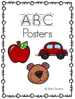 Alphabet ABC posters
