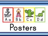 Alphabet ABC posters English - words Spanish cognates