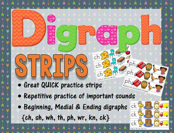 Alphabet, Digraph, and Blends Strips BUNDLE