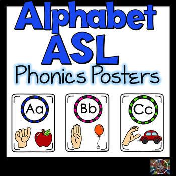Alphabet ASL Classroom Posters American Sign Language Color  #spedislucky