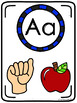 Alphabet ASL Classroom Posters American Sign Language Colo