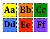 Alphabet Aa Bc Cc and Color flashcards