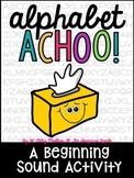 Alphabet Achoo! {a beginning sounds activity}