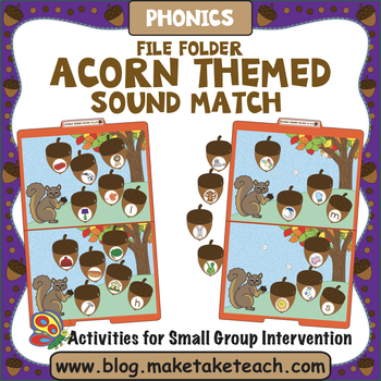 Alphabet - Acorn Themed File Folder Alphabet Match