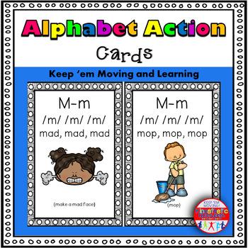 Alphabet Activities - Letter Sounds - Action Cards