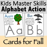 Alphabet Action and Movement Cards for Fall