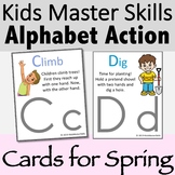 Alphabet Action and Movement Cards for Spring