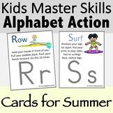 Alphabet Action and Movement Cards for Summer