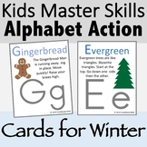 Alphabet Action and Movement Cards for Winter