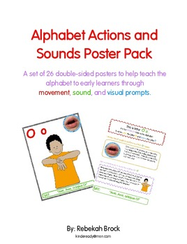 Alphabet Actions and Sounds Poster Pack:  26 Posters to teach the ABC's