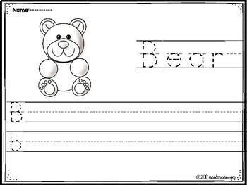 Alphabet Worksheets A-Z