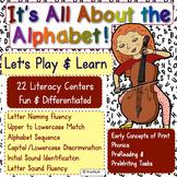 22 Alphabet Activities: Concepts of Print, Phonics, PreReading, & PreWriting