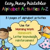 Alphabet Activities A - Z