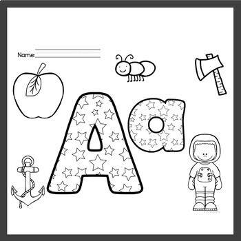 Alphabet Worksheets Color the Letter
