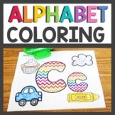 Alphabet Worksheets Color the Letter