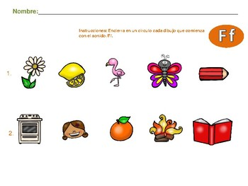 Alphabet Activities-Actividades con F