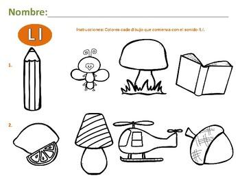 Alphabet Activities-Actividades con L