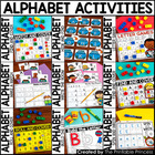 Alphabet Letters Activities BUNDLE {Uppercase and Lowercase Letter Recognition}