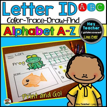 Alphabet Worksheets:Letter Recognition and Printing Practice