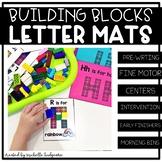 Alphabet Activities | Building Blocks Letter Mats | Fine Motor