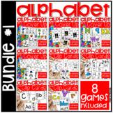 Alphabet Activities Bundle #1 - Alphabet Clip Cards and Al