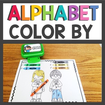 Alphabet Worksheets Color by Letter