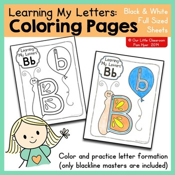 Alphabet Activities:  Coloring Pages