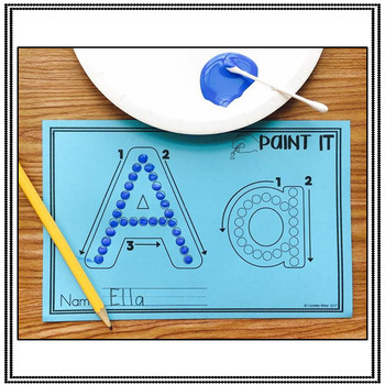 Alphabet Activities – Fine Motor Fun! *PAINT IT*