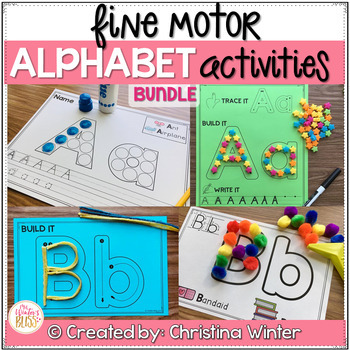Alphabet Activities – Fine Motor Fun! BUNDLE