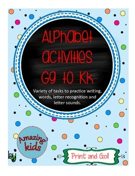 Alphabet Activities Gg to Kk